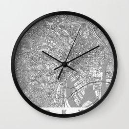 Tokyo Map Line Wall Clock