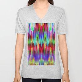Colorful digital art splashing G487 Unisex V-Neck