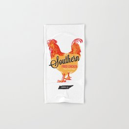 Southern Fried Chicken Screen Print Nashville, Tennessee Hand & Bath Towel