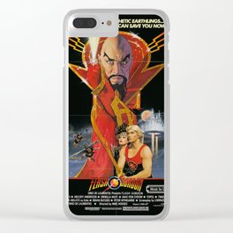 Vintage 80s Sci-Fi Movie Artwork For Prints, Posters, Tshirts, Bags, Men, Women, Kids Clear iPhone Case