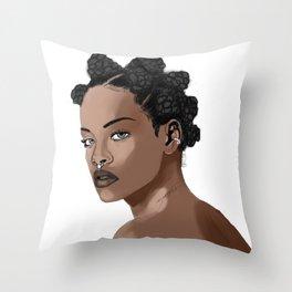Bad Gal Bantu Knots Throw Pillow