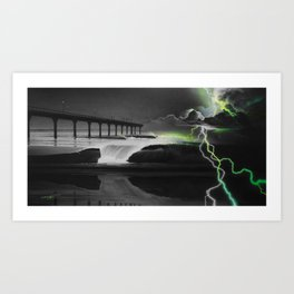 'Emerald Eye of the Storm' Art Print