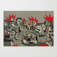 Riot in the Street Canvas Print