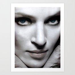 Uma Thurman Portrait Art Print