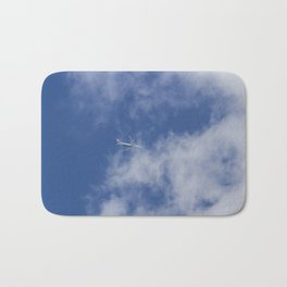 Flying Through Clouds Bath Mat