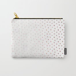 Cool Rose Gold Polka Dots Carry-All Pouch
