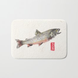 Brook Trout in Spawning colors-Gyotaku Bath Mat