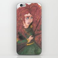 merida iPhone & iPod Skins featuring Merida by carotoki art and love