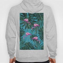 Summer Flamingo Jungle Vibes #2 #tropical #decor #art #society6 Hoody