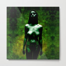 "NUDE ""walk in green"" Metal Print"