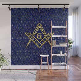 Freemasonry symbol Square and Compasses Wall Mural
