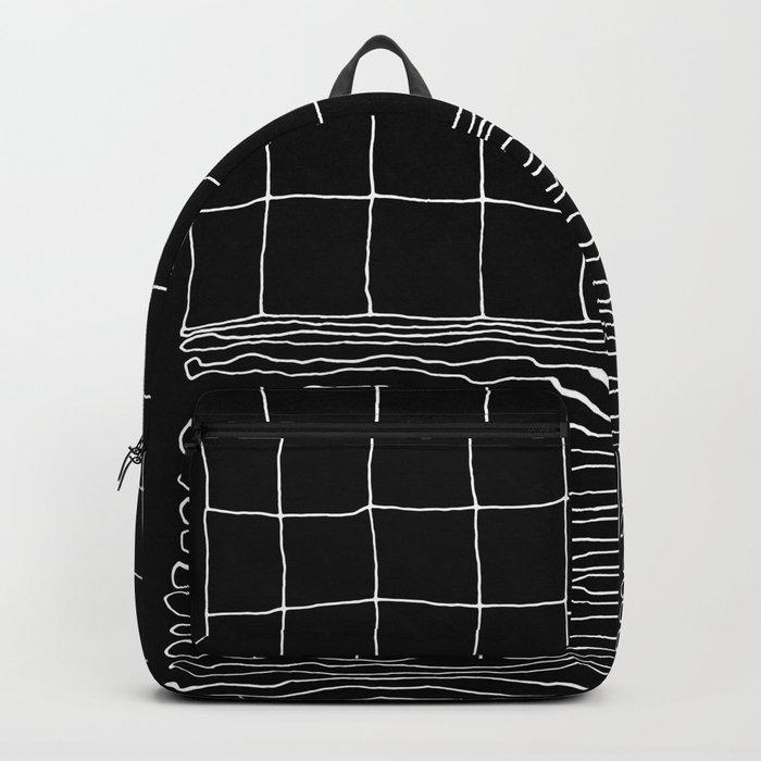 Hand Drawn Grid Backpack