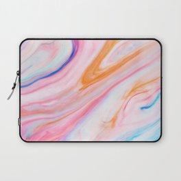 Rainbow Marble Print Laptop Sleeve