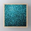 Beautiful Aqua blue glitter sparkles by pldesign