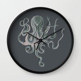 VINTAGE OCTOPUS  Grey Wall Clock