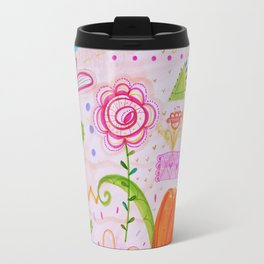 Palm and Florals Illustration by Paisley in Paris™ Travel Mug