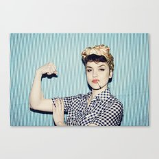 A Modern Rosie the Riveter Canvas Print