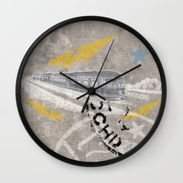 Train Of Thought Derailed Wall Clock