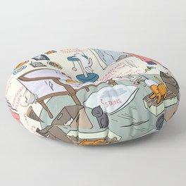 Cat Lady's Home Floor Pillow