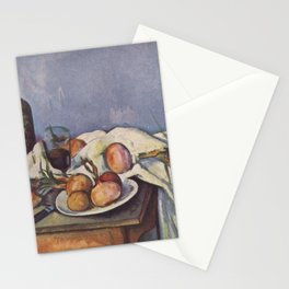 Paul Cézanne - Still Life with Onions Stationery Cards