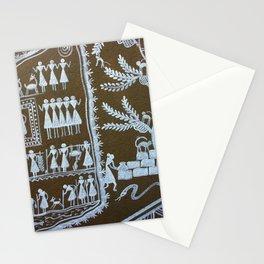 Saura Painting Graffiti Tribal Art, Odisha India Stationery Cards
