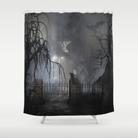 returns Shower Curtains featuring Darkness Comes Miss Piggy Returns by apgme