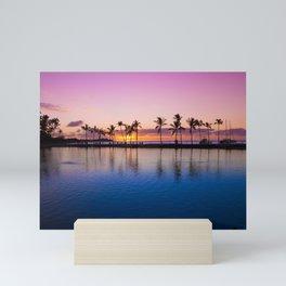 Sunset on Hawaiian Beach Mini Art Print