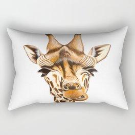 Giraffe painting. White Background Rectangular Pillow