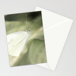 white butterfly Stationery Cards