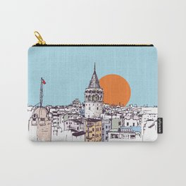 Galata Tower and Galata district of Beyoglu Istanbul Carry-All Pouch