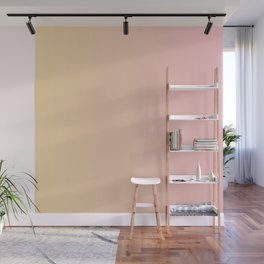Sunset Pink Coral Gradient Wall Mural