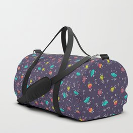 Floral Pattern Duffle Bag