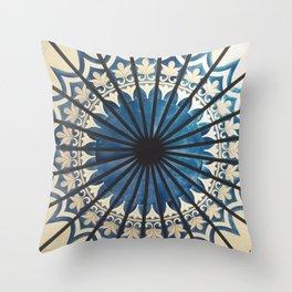 Blue orient  Throw Pillow