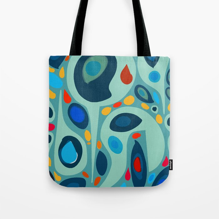 Blue Abstract Pattern sealife Tote Bag