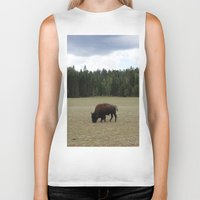 buffalo Biker Tanks featuring Buffalo  by Taylor Palmer