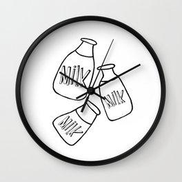 Baby bottle of Milk, kids room and nursery deco Wall Clock
