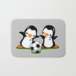 Soccer Penguins Bath Mat