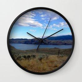Kamloops mountains lake scenery Wall Clock