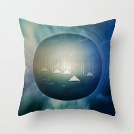 Communicate in Blue / Archipelago 27-01-17 Throw Pillow