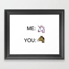 Unicorn fever Framed Art Print