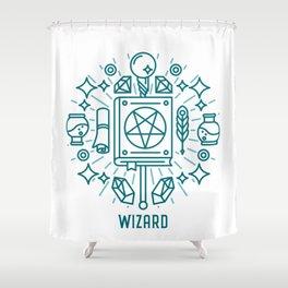Wizard Emblem Shower Curtain