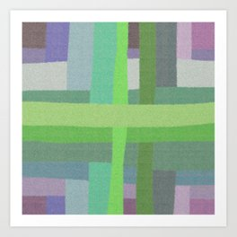 Criss Cross Colors Art Print