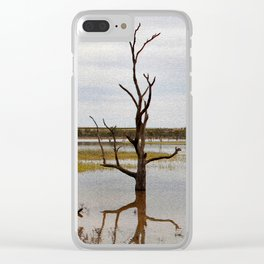 Dead Trees in the River Clear iPhone Case