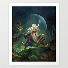 Party of Cats Art Print
