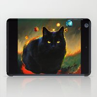 black cat iPad Cases featuring black cat by ururuty