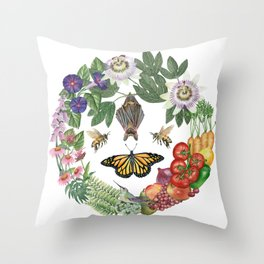 Summer's Bounty Throw Pillow