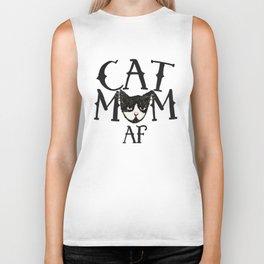 Cat Mom AF Biker Tank