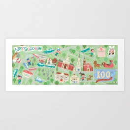 westborough map Art Print
