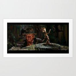 Raiders of the lost Groot Art Print