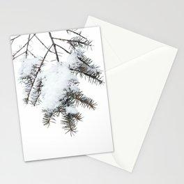 Snowy Spruce Needles 6 Stationery Cards